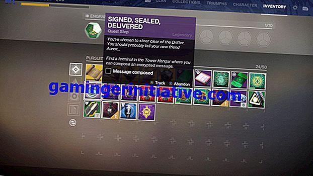 Destiny 2 Signed Sealed Delivered: Wo kann ich eine Nachricht im Hangar verfassen?