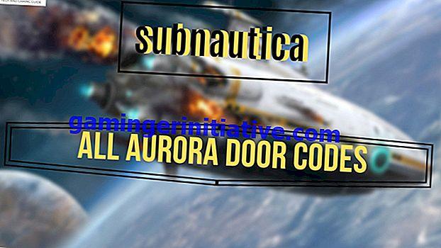 Subnautica : 모든 Aurora 도어 코드