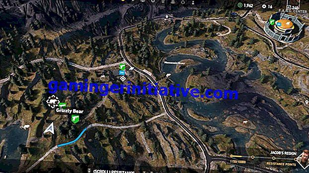 Far Cry 5 : 그리즐리 베어의 위치