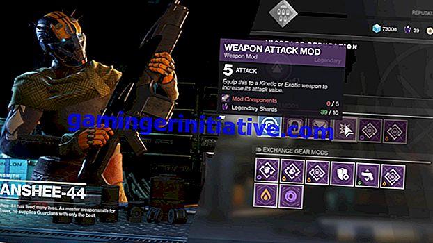 Destiny 2: Come ottenere mod di armi cinetiche